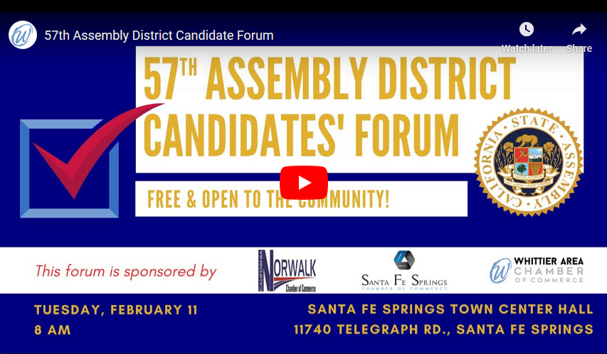 57th Assembly District Candidate Forum