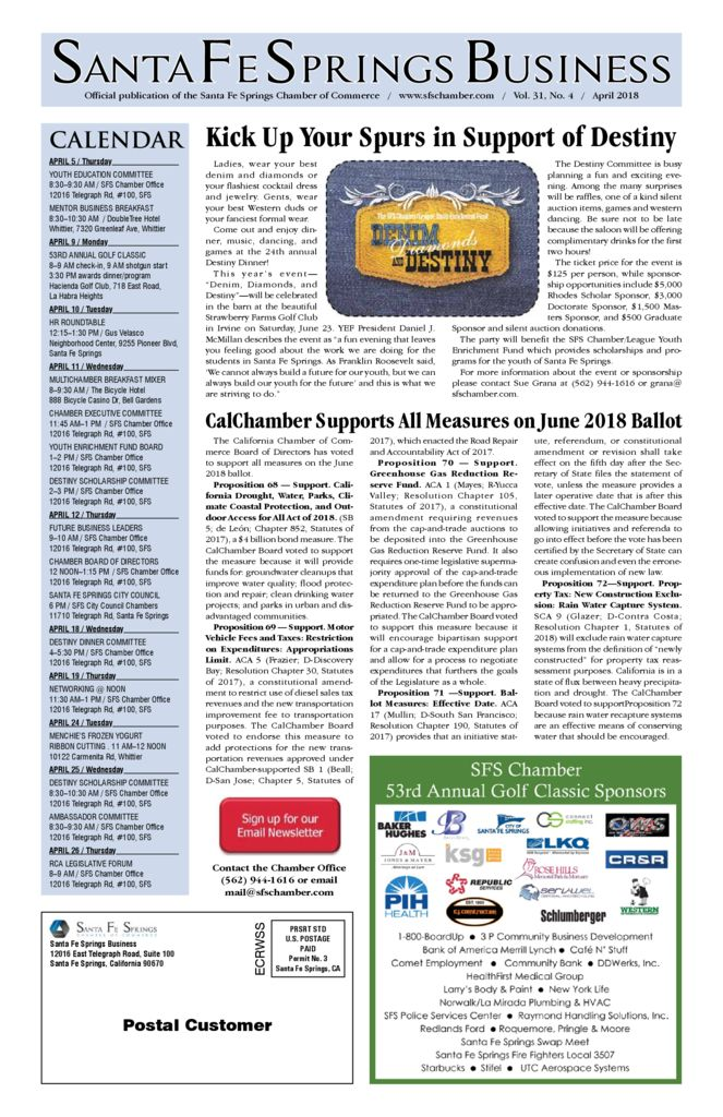 thumbnail of April 2018 – Santa Fe Springs Chamber Newspaper