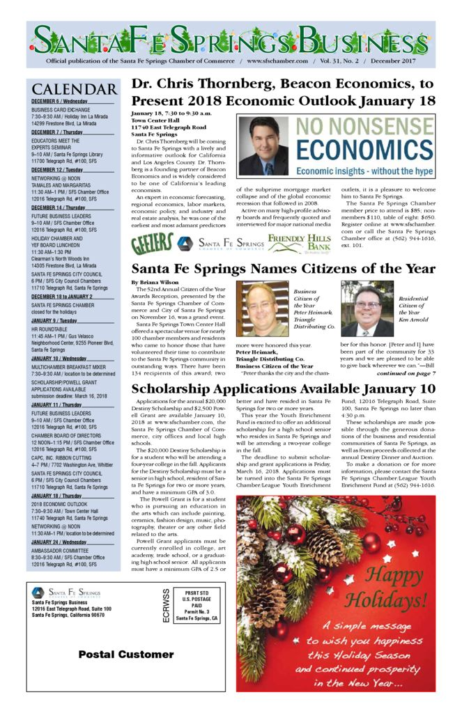 thumbnail of December 2017 – Santa Fe Springs Chamber Newspaper