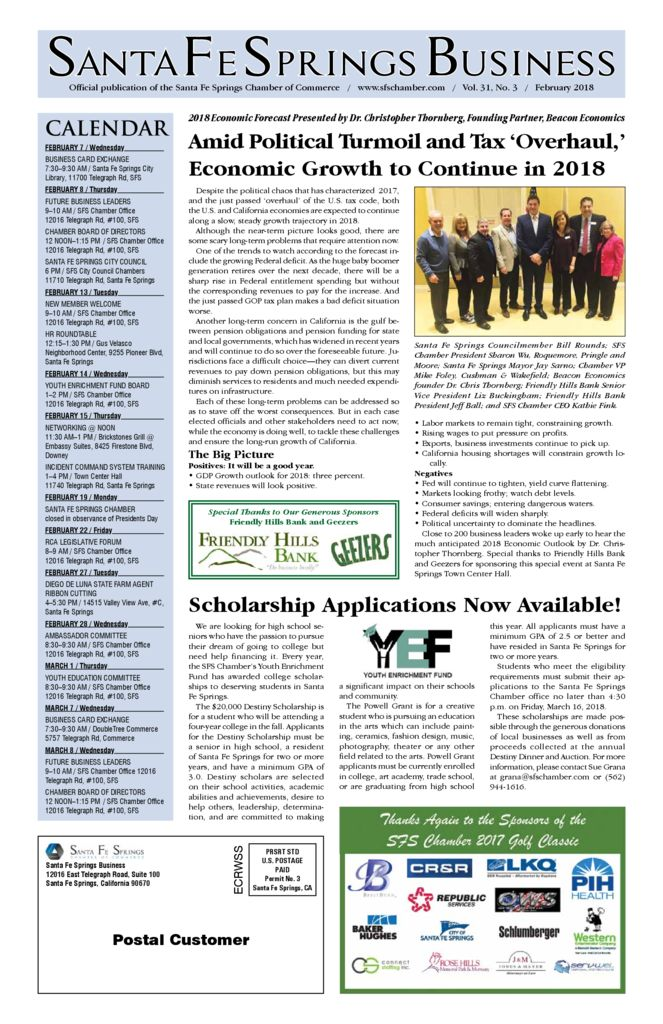 thumbnail of February 2018 – Santa Fe Springs Chamber Newspaper