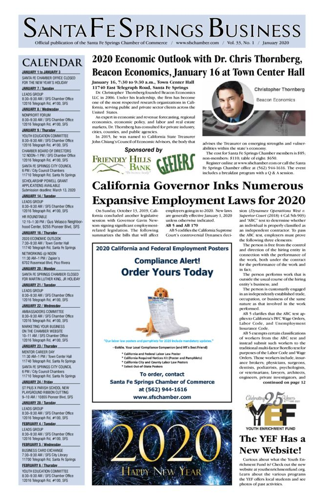 thumbnail of January 2020 – Santa Fe Springs Newspaper