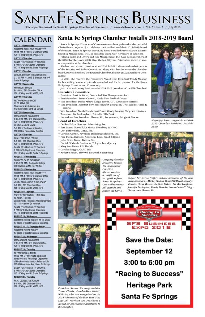 thumbnail of July 2018 – Santa Fe Springs Chamber Newspaper