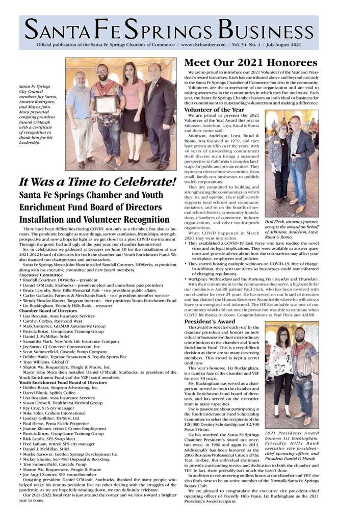 thumbnail of July – August 2021 – Santa Fe Springs Newspaper
