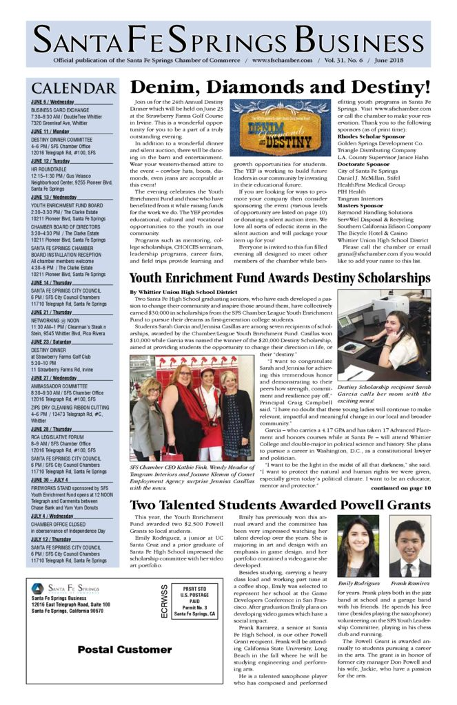 thumbnail of June 2018 – Santa Fe Springs Chamber Newspaper