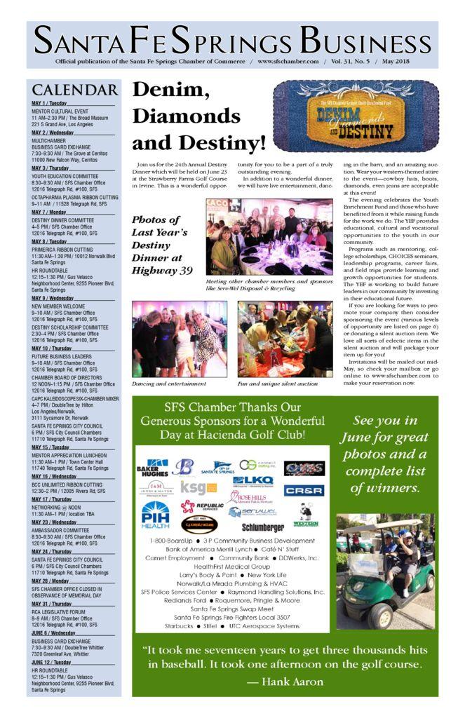 thumbnail of May 2018 – Santa Fe Springs Chamber Newspaper
