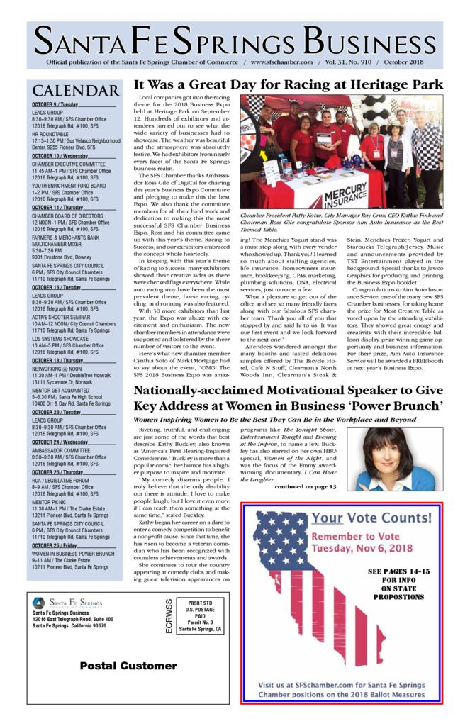 thumbnail of October 2018 – Santa Fe Springs Chamber Newspaper