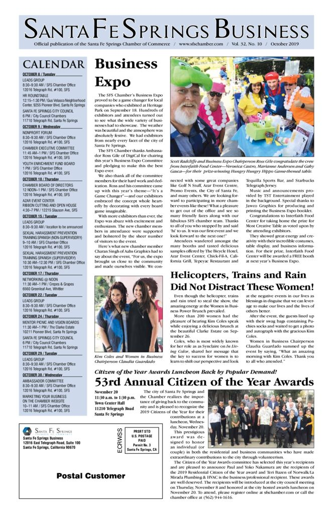 thumbnail of October 2019 – Santa Fe Springs Newspaper