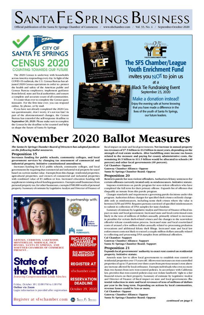 thumbnail of September-October 2020 – Santa Fe Springs Newspaper